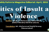 Politics of Insult and Violence
